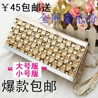 2013 fashion evening bag with diamond women's handbag small bag one shoulder cross-body bag day clutch bag