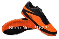 2013 Fee shipping new style soccer shoes indoor grass nail Venom soccer boots football cleats bootsBlack/Citrus size 39-45