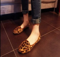 new 2014 Autumn Flat-Bottomed Single Shoes Leopard Print Small Single Shoes Street Flat Heel  Female Shoes