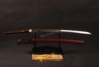 1095 Clay Temper Japanese Sword Samurai Katana Battle Ready Sharp Can Cut Tree