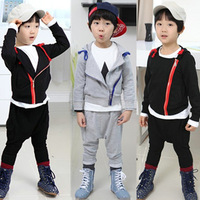 2013 autumn winter baby boy children clothing set  long-sleeve sports set  one sweater+ boy harem pants
