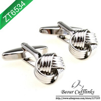 (Min.order is $10) Novelty Engraved Plating Knot Gold Cufflinks ZT6534 - Free Shipping!