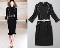 2013 autumn new style long-sleeved Slim Fashion Zipper Dress