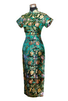 married formal dress rich flowers woven damask design long cheongsam qipao dress multicolor Free Shipping  S M L Xl 2XL