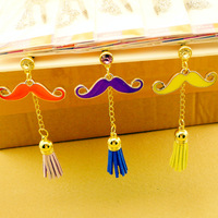 Rhinestone mustache shape mobile phone dust plug pendant mobile phone dust plug 3.5mm plug earphones accessories