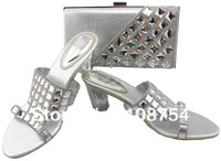 Italy shoes,Woman shoes,shoes with matching bags, Italy designs, lady's shoes,Free shipping,SB174 silver euro size39-41