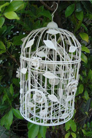 Fashion iron white iron birdcage decoration bird cage fashion bird cage modern bird cage wrought iron bird cage