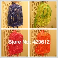 2013 female bags plastic neon double sided rainproof bag color block