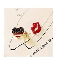 br006 Hot New Fashion Stars Heart Love Lips three piece set jewelry brooch Pin Jewelry Wholesales