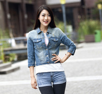 2013 Autumn winter women fashion 1/2 sleeve windproof jeans vest WF2104 wholesale demin clothes always fashion fashion