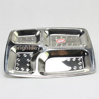 stainless steel food tray plate snack tray plate