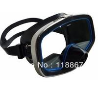 1pc Safty tempered glass carbon fiber screen mask Swim glasses Mask Scuba Diving Snorkeling Silicone Mask Diving Masks