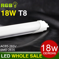 FedEX Free shipping 15pcs/lot 18W 1200MM T8 LED Tube Light High brightness SMD2835 25LM/PC 96led/PC 2400LM AC85-265V