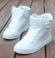 Free shipping! High-top canvas fashion female neon color shoes