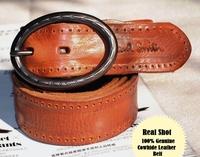 Genuine Cowhide Leather Belt For Men Brand Real Leather Belts Man Designer Vintage Wide Mens Belt 2013 New Accessories MBT0009