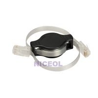 NI5L Portable Retractable RJ45 Ethernet LAN Internet Network Cable Black