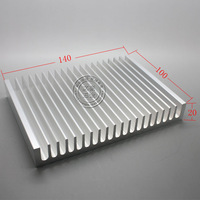 Pure aluminum heat sink high power radiator matearils cooling plate 100 140 20mm