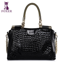 Designer brand Wolsey women's handbag  fashion crocodile pattern handbag chain cowhide shoulder bag messenger bag