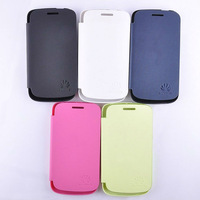 Free shipping 1pc back flip leather cover case battery housing case For Huawei Y310
