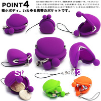 pochi-bit strap coin purse pochi wallet silicone wallet silicon bag coin holder 1000pcs/lot mixed colors