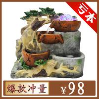 Rockery water fountain water features feng shui ball lucky decoration gift bonsai feng shui wheel
