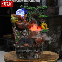 Feng shui wheel decoration crafts home decoration rockery water fountain opening gifts