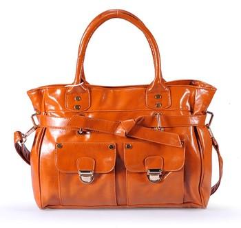Fashion vintage fashion wax female rivet lockbutton handbag cross-body bag shoulder bag briefcase big bag motorcycle  hot sale