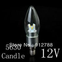 New!!! 12V High quality Super Bright 5W LED Candle Light 5630 SMD 6 LED Bulb E14/e27/e2 Warm/Cool White Free Shipping 5pcs/lot