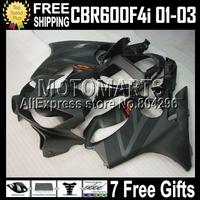 Flat Matte black Fairing For HONDA MQ72 F4I FS 7gifts CBR600 F4i 01 02 03 CL150 CBR600F4i CBR 600 F4i 600F4i  2001 2002 2003 Hot