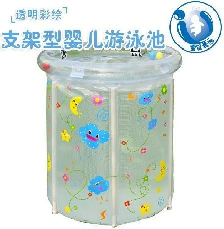 PVC transparent painted baby swimming pool bracket(China (Mainland))