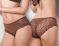 5PCS/Lot High Quality Pants Lady Low Waist Bamboo Fibre Briefs Full Lace Female Underwear  U224