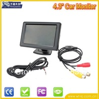 4.3 inch 16:9/4:3 TFT car rear view monitor with sunshade cover, 2 AV input, 1 way for car rear view, 480*272