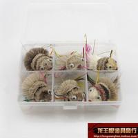 free shipping fly fishing lures 6 pcs / one box single hook style baby fishing set lure