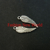20%OFF  50pcs  WING SILVERAntique  Metal charms  jewelry fit making cp0508