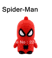 Spider man!Free shipping!!  Cute spider man shape USB 2.0 memory stick USB Flash Drive 2G/4G/8G/16G/ 32G  Pen drive