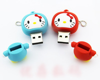 Hello kitty!Free shipping!! 2 colour kitty cat shape USB 2.0 memory stick USB Flash Drive 2G/4G/8G/16G/ 32G Pendrive