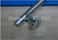 Fashion 2pcs 280mm 304 Stainless Steel Big Glass Knobs Sliding Door Modern Cabinet Dresser Pulls Drawer Handles Armoire Hardware