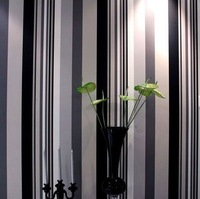 Shangya brief black and white vertical stripe wallpaper tv background wall wallpaper