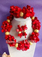 No. 2090 Design New african wedding jewelry set , coral jewelry set