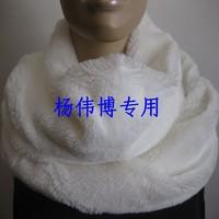 Super soft all-match white rex rabbit hair fur muffler scarf collars double faced 20 160