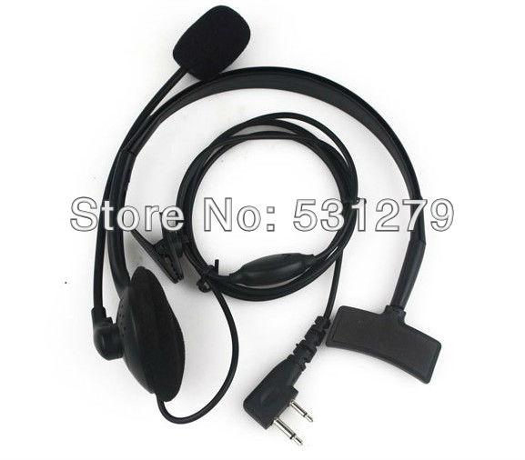 Free shipping 5pcs/lot 2 PIN PTT MIC Headphone for walkie talkie ICOM F3 F4 C083 Motorola Cobra Maxon throat Headset C083(China (Mainland))