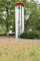 Double metal wind chimes 12 silver tube wind chimes gift home accessories feng shui decoration
