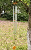 Double metal 6 aluminum pipe wind chimes rustic balcony hangings door trim birthday gift