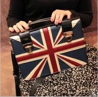 Free Shipping 2013 New National flag Handbag Fashion PU Leather Designers Brand Women's Shoulder bag Wholesale 0080