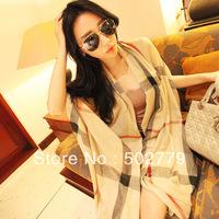 2013 Korean winter classic plaid pattern plain cotton lady scarf, winter scarf, plaid scarves