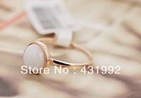 Petty elegant minimalist fashion creative round opal ring female