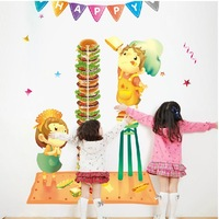 Furnishings Large size 82'' 45' 'wall decoration wall stickers height stickers small hamburger height Free Shipping 2pcs/set
