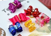 Pet Dog Rubber band Dog charms head flower pet accessories hair accessories