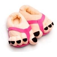 high quality  cotton-padded slippers big feet women's handbag at home lovers cartoon