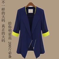 2014 new fashion Plus size clothing autumn mm plus size clothing 200 blazer suit jacket  free shipping